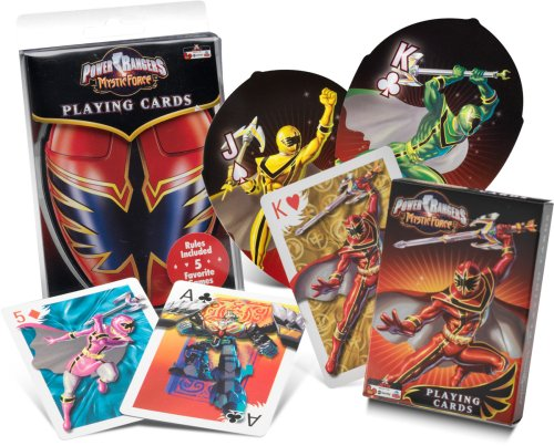 Power Rangers Mystic Force Shaped Playing Cards - 1