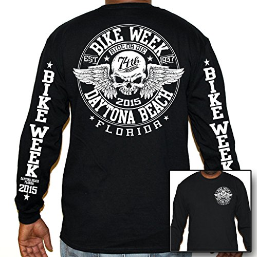 Biker Life USA Men's 2015 Bike Week Vicious Circle Long Sleeve Shirt
