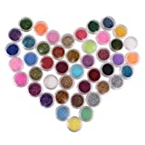 Evalley 45 Color Glitter Sparkle Powder Nail Art Makeup Body Painting
