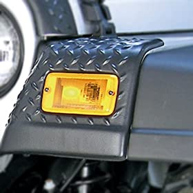 Jeep Wrangler (TJ) Black Front Fender Body Armor Guards (Pair)