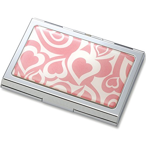 pink-on-pink-heart-epoxy-metal-chrome-plated-business-card-or-credit-card-case-holder-black-gift-box-for-him-her