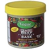 Vogue Cuisine Beef (Vegetarian Beef) Soup & Seasoning Base 4oz - Low Sodium & Gluten Free