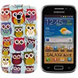 kwmobile Hardcase mit Eulen Design f�r Samsung Galaxy Ace 2 i8160 in