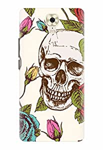 Noise Designer Printed Case / Cover for Gionee M6 Plus / Patterns & Ethnic / Skull With Roses Design