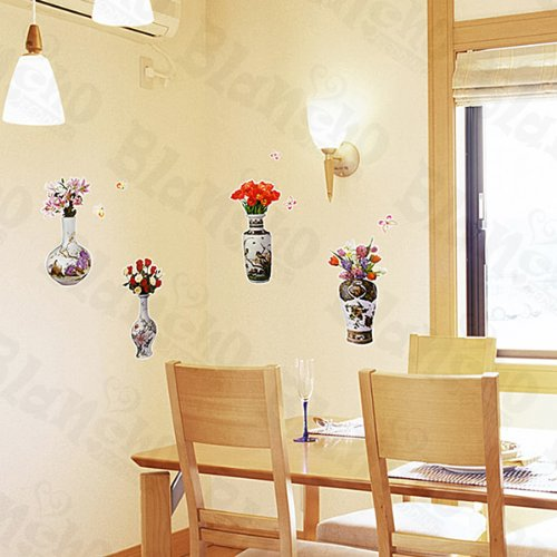 [Refined Vase] Decorative Wall Stickers Appliques Decals Wall Decor Home Decor front-78810