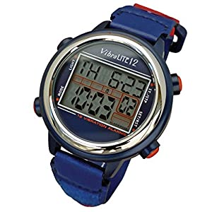 Global Assistive Devices VibraLITE 12 Vibrating Watch with Red & Blue Band by Global Assistive Devices