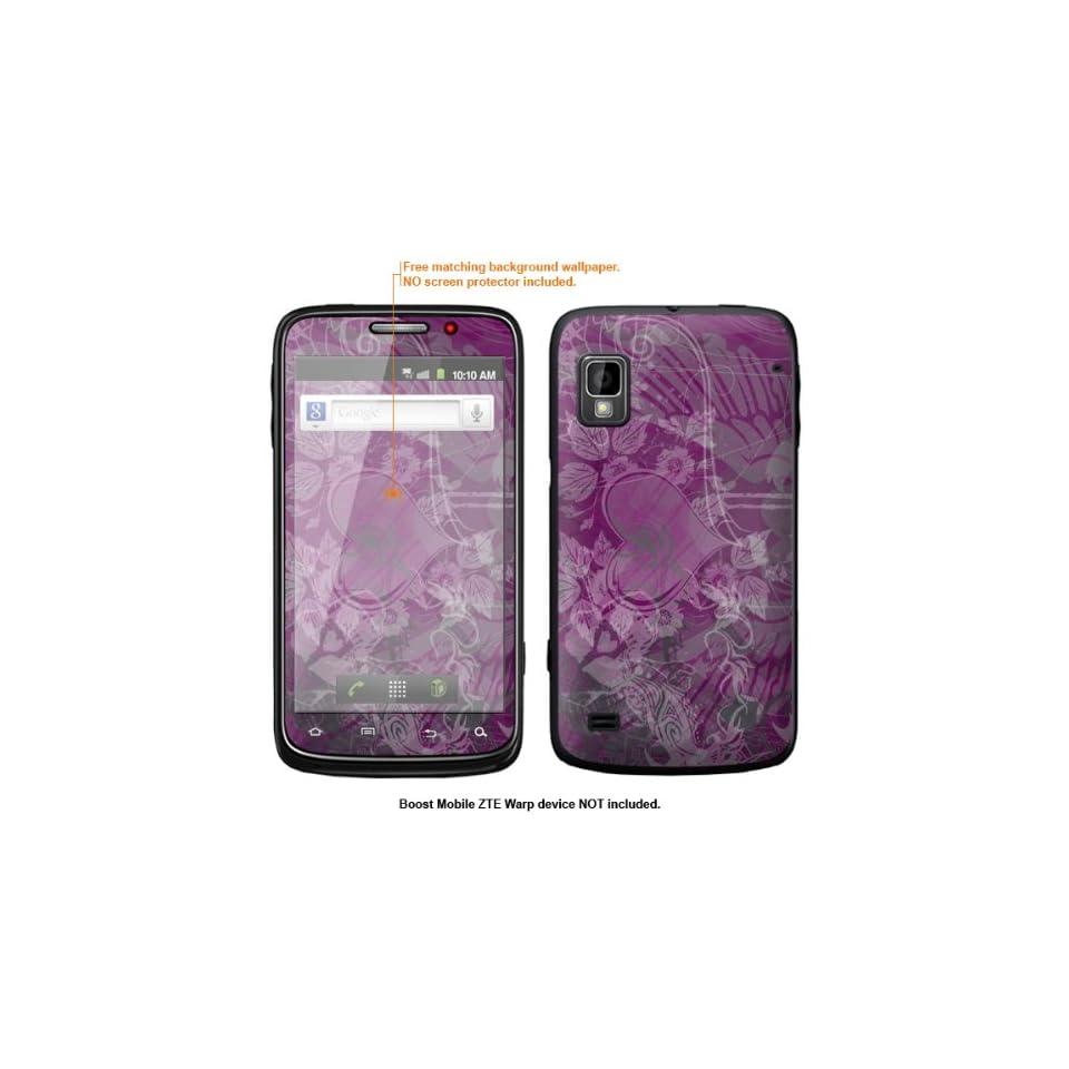 Protective Decal Skin Sticker for ZTE Warp  Boost Mobile version  case cover ZTEwarp 566