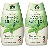 SweetLeaf Sweet Drops Liquid Stevia Sweetener, SteviaClear, 1.7 Ounce (Pack of 2) (Color: Clear, Tamaño: 1.7 oz Natural (Pack of 2))