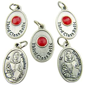 Amazon.com: Lot of 5 Patron Saint St Dymphna 3/4 Inch