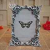 NATO europea Cornice Photo Frame nobile perla diamante intarsiato con foto Silver Frame classico telaio ricordi