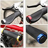 Generic White : Mountain Bike New Anti-slip Road Cycling Grips Rubber And Aluminum Alloy Integrated Mtb Handle...