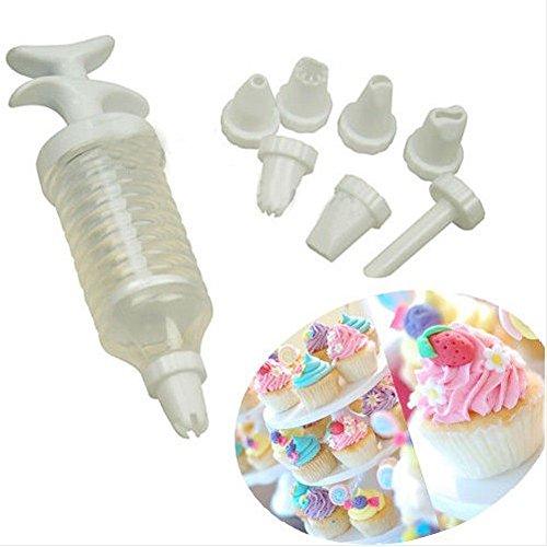 8Pcs/Set Nozzles New Icing Cake Decorating Tool Set Piping Syringe Modelling Tools 8 Pcs Nozzles Bakeware Tools