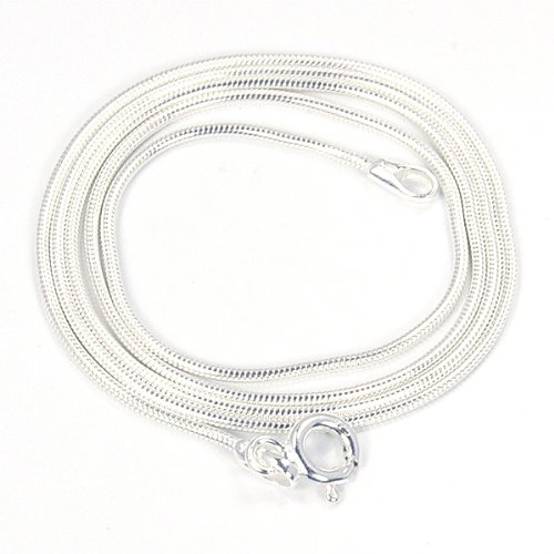 Snake Chain Sterling Silver 20 inches x 1mm