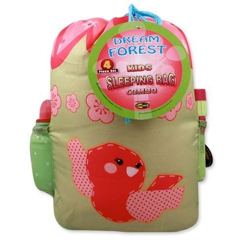 Girls Dream Forest 4 Piece Sleeping Bag Set For Kids