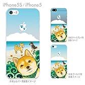 【iPhone5S】【iPhone5】【ケース カバー】【au】【Soft Bank】【ケース】【カバー】【スマホケース】【クリアケース】【まゆイヌ】【柴犬と白い雲】 26-ip5s-md0042