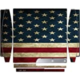 American Flag Old Style Design Print Image Playstation 3 & Ps3 Slim Vinyl Decal Sticker Skin By Trendy Accessories