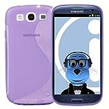 ITALKonline Samsung i9300i Galaxy S3 Neo III Purple TPU S Line Wave Hybrid Gel Skin Case Protective Jelly Cover