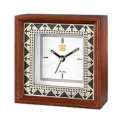 Frank Lloyd Wright Beth Sholom Quartz Table Top Alarm Clock by Bulova - B7766