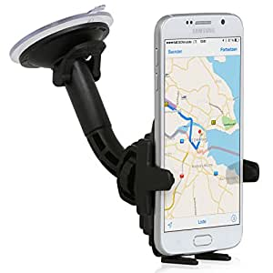 Wicked Chili KFZ Halterung mit Kugelgelenk für Samsung Handy / Smartphone (kompatibel mit Bumper/ Hülle/ Case, Made in Germany) schwarz