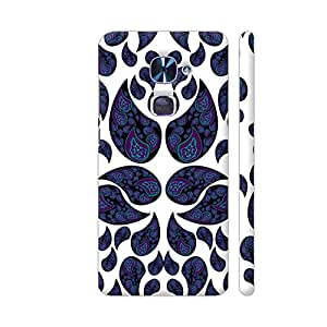 Colorpur Paisley Purple And Blue Designer Mobile Phone Case Back Cover For LeEco Le 2 / Le 2 Pro | Artist: VanessaGF