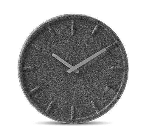 wall clock felt35 grey hands by LEFF amsterdam