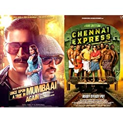 Chennai Express / Once Upon a Time in Mumbai Dobaara! (Hindi Movie / Bollywood Film / Indian Cinema DVD) 2 in 1 Orginal Without Subtittles