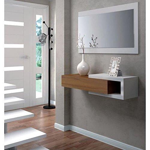 links toledo b4 - mobile ingresso con specchio - bianco lucido ... - Mobili Ingresso Bianco Lucido