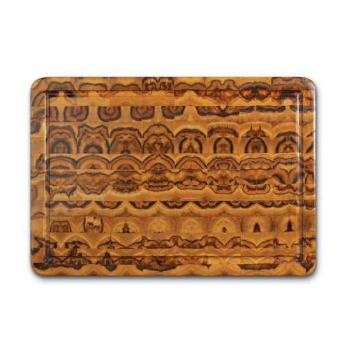 Proteak Teak Cutting Board Rectangle 20-by-14-by-2-1/2-Inch Hand Grip and Juice Canal, End Grain