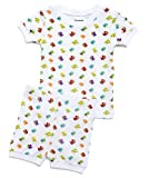 "Leveret Shorts ""Birds Flying"" 2 Piece Pajama 100% Cotton (Size 6M-5T)"