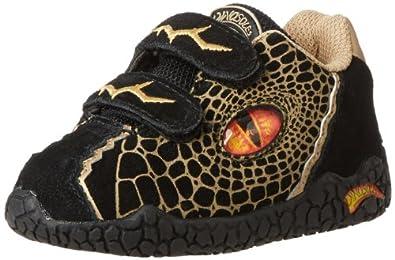 Dinosoles 3D Double Eye Sneaker (Toddler/Little Kid/Big Kid),Black,9 M US Toddler