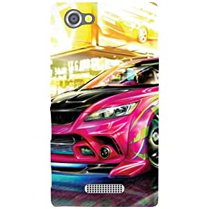 Sony Xperia M Back cover - Colorful Car Designer cases