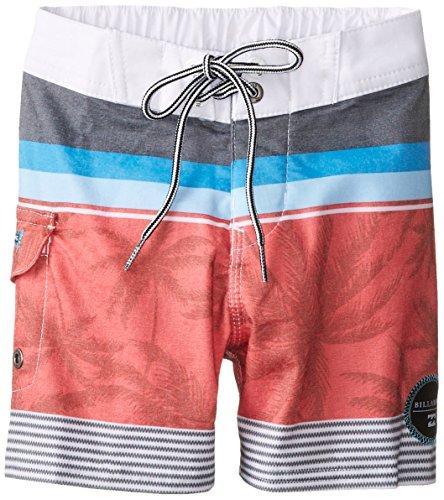 Billabong Little Boys' Spinner Boardshort, Red, 4/Small front-65414