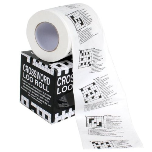 Novelty Crossword Loo Roll/ Toilet Roll Gift