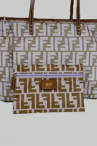 Fendi Handbags Light Purple Zucchino Nylon 8BH198