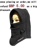 RHX 6 In 1 Thermal Fleece Balaclava Hood Police Swat Ski Bike Wind Stopper Mask New
