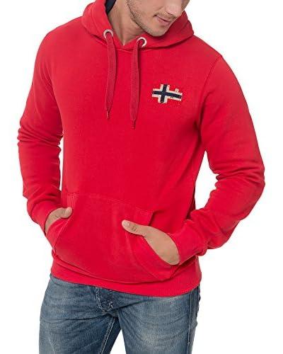 Geographical Norway Kapuzensweatshirt Fondant rot