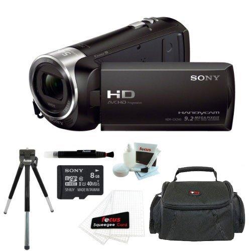 Sony Hdr-Cx240 Hdrcx240B Hdrcx240/B Full Hd Handycam Camcorder (Black) + Sony 8Gb Class 10 Micro Sdhc R40 Memory Card +Gadget Camera Bag + Accessory Kit