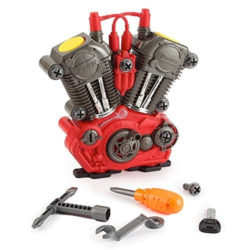 Build Your Own Engine Overhaul Toy Set for Kids - 20 Pieces Take Apart Kit by PowerTRC (Engine Car compare prices)