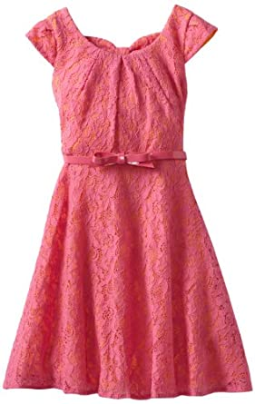 My Michelle Big Girls' Bow Back Dress, Pink, 8