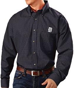 Detroit Tigers Antiqua MLB Esteem Long Sleeve Button Down Dress Shirt by Antigua