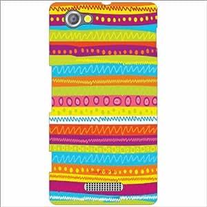 Design Worlds - Sony Xperia M Designer Back Cover Case - Multicolor Phone C...