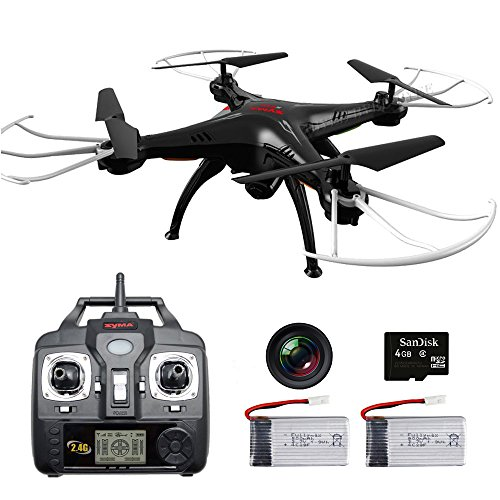 SYMA X5SC-G RC Drone with Camera and 2 Batteries Headless Explorers2 Quadcopter RTF for Beginner Black