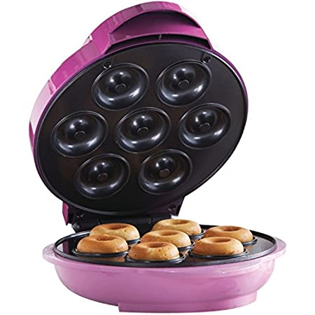 Skip the donut run and make your own at home! This 750-watt Mini Donut Maker from Brentwood Appliances has a nonstick coating for healthier donuts-no deep-fat frying necessary! The TS-250 also has a preheat and power indicator light plus a convenient...