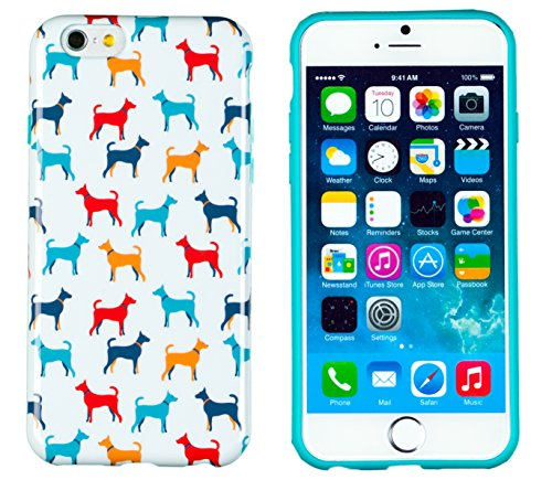 "Iphone 6 Case, Dandycase Perfect Pattern *No Chip/No Peel* Flexible Slim Case Cover For Apple Iphone 6 (4.7"" Screen) - Lifetime Warranty [Vintage Dog Print] front-1077786"