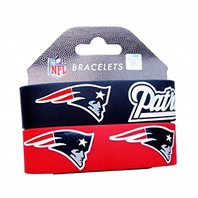 New England Patriots Wrist Band (Set of 2) NFL