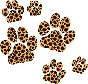 Leopard Paw Print Stickers Amazon Co Uk Kitchen Amp Home