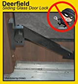 Deerfield Sliding Glass Door Deadbolt Lock (w/ Wood Door Attachment) - BRONZE