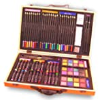 Deluxe Art Set In Wood Carrying Case...