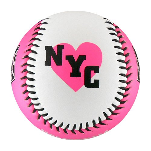 New York Pink/White T-Ball (Rubber Core)
