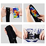 iVAPO Outdoor Sports Adjustable Functional Waterproof Sport Belt Cell Phone Wrap Wrist Band Lifeproof for Samsung Galaxy S4 S5 Note 2 3 HTC Sony (MM462) (Black)